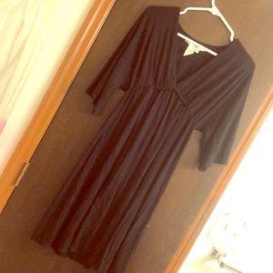 Black Max Studio V Neck Dress